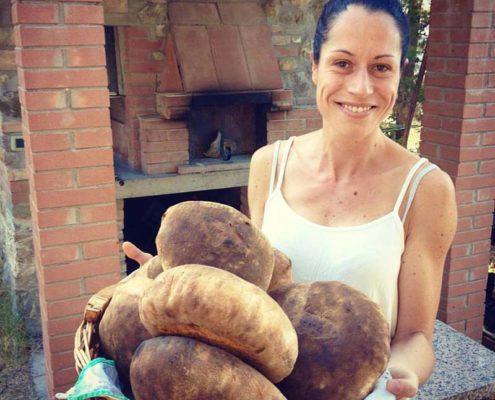 brot backen im biobauernhof in der toskana ein bio-agriturismo mit ferienwohnungen und pool